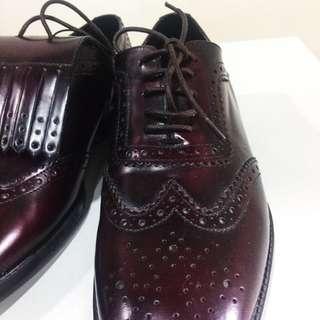 Zara genuine leather brogues
