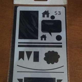 Plastic Journal stencils