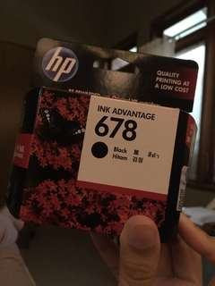 Tinta Printer HP 678 Black Cartridges