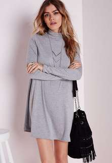 Intimates Swing Sweater Dress in color gray