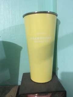 pastel yellow tumbler