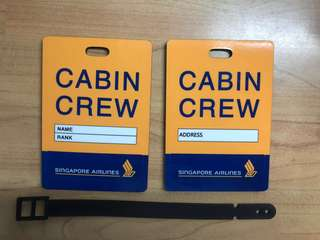Singapore Airlines cabin crew tag