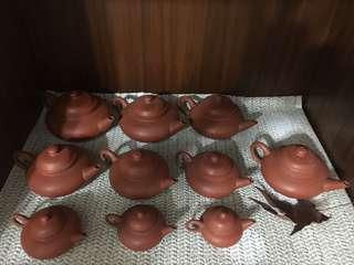 🚚 老安順 一條龍 茶壺 無缺 10個