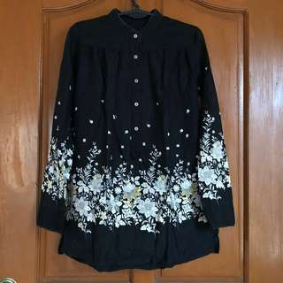REPRICED: Black floral long sleeve
