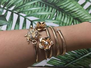 Gold Stackable bangles