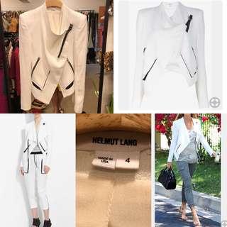 Helmut Lang white jacket size 4