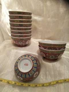 11pc of vintage porcelain bowl  x 6 =66
