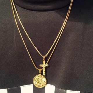 🚚 🔥嘻哈純銅電鍍耶穌十字架/中國龍 項鍊🔥