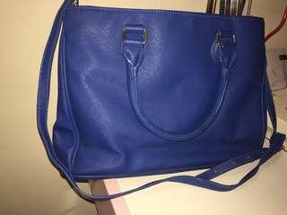 Katie Judith深藍色側孭袋