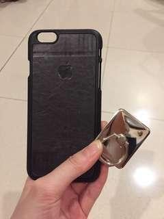 Case leather Iphone 6 + iRing bundling