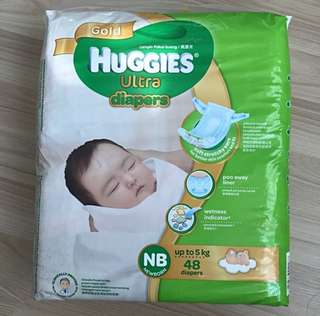 Huggies Ultra Diapers NB 48 Newborn