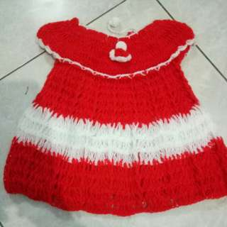 Dress bayi rajut lucu