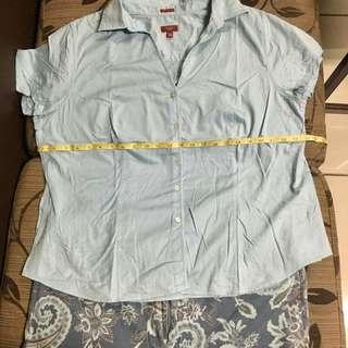 Plus size combo: polo shirt & printed aztec pants