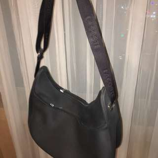 Lacoste Black Leather Bag