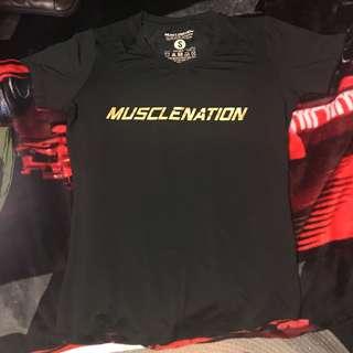 MuscleNation Bodybuilding Gym Tshirt Small