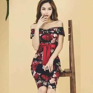 Floral Bodycon Dress - COD