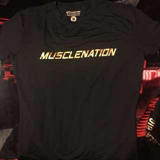 MuscleNation Bodybuilding Fitness Gym Tshirt Medium