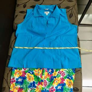 Plus size combo: top and shorts
