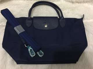 Authentic longchamp Neo small navy blue
