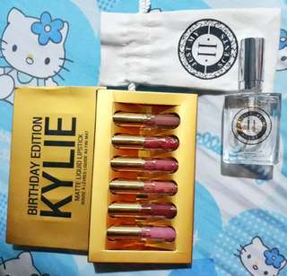 JustMyIIScents Perfume with Kylie Jenner Lipstick Set