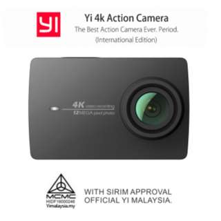YI 4K Action Camera - Free YI Selfie Stick + Bluetooth Remote