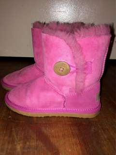 Authentic sheepskin pink UGGs