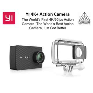 4k+ Action Camera + Waterproof Case