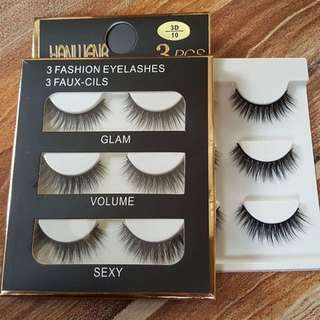 3 Pairs/set Natural Long Black Eye Lashes Makeup Handmade False Fake Thick Eyelashes Make up Extension Tools 7 Styles