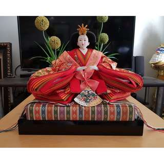 Japanese Display Set of 2 Big Figure