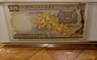 Orchid $25 note A/34 376422