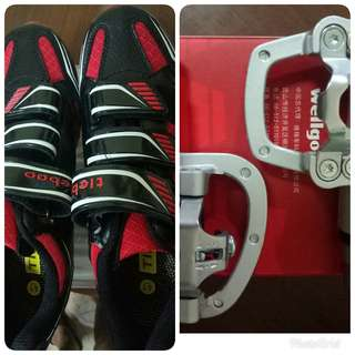 Wellgo Pedals & cycling shoe