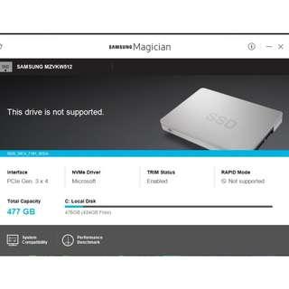 Samsung MZVKW512 M2 NvME SSD 512GB