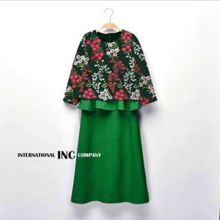 PEPLUM LACE FLOWER MOM & KIDS ~READY STOK~ #raya