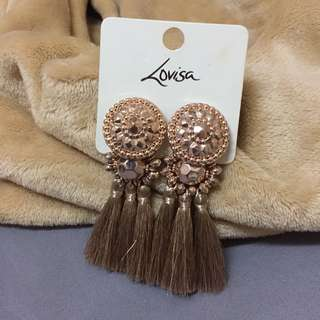 Lovisa Rose Gold Tassel Earrings