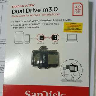 *CAN NEGO* SANDISK ULTRA dual drive m3.0 32GB