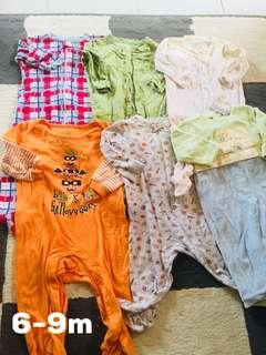 Combo baby sleepsuit