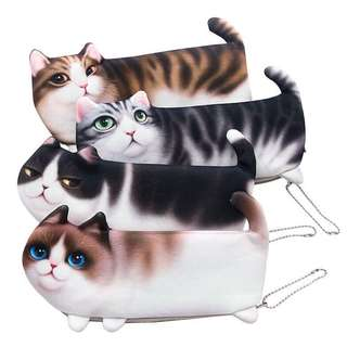 Cute Kitty Pencil Case Makeup Pouch
