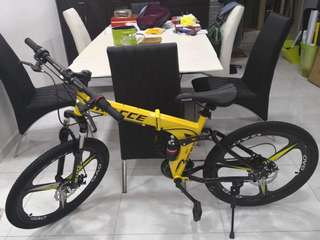 Full Suspension Bicycle, Brand new 24''Foldable Mountain Bike, 24 Speeds