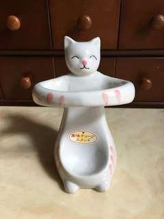 🚚 日本 可愛貓咪湯匙架 飯匙架