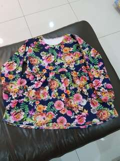 Floral Blue Top (Long Sleeve)