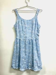 Blu Pepper (US Brand) Light Blue Printed Dress