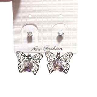 蝴蝶耳環butterfly earrings
