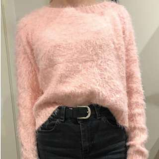 Fluffy Baby Pink Jumper