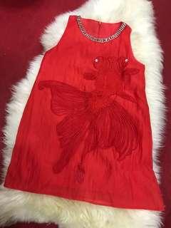 Red Dress/ long top