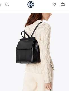 Tory burch T backpack (black/navy/beige)