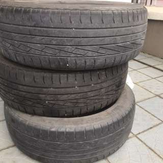 Three for rm 210. 16 inches goodyear tyres . Price negotiable. Whatsapp to 0198266396