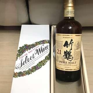 日本威士忌竹鶴21年 正版 有盒