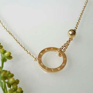 High glossy gold plated 316L stainless steel necklace