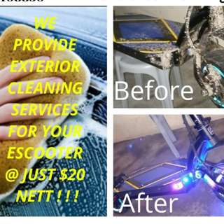 Cleaning services for all escooter / Dualtron / Dark Knight / inokim / Futecher / speedway / Segway/ Ninebot//cleaning