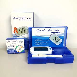 🚚 Diabetes Blood Glucose Meter Set with 50pc Test Strips (Free Delivery)